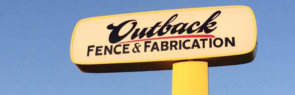 Road sign for Outback Fence & Fabrication, LLC